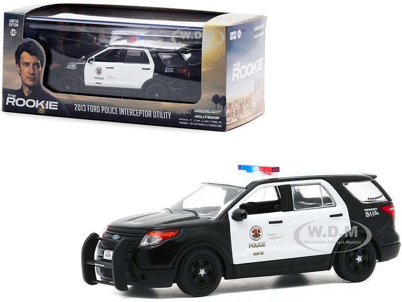 2013 Ford Police Interceptor Utility White and Black