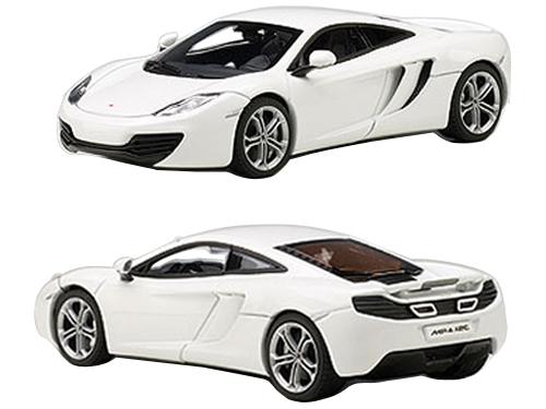 Mclaren Mp4-12c White 1/43 Diecast Model Car By Autoart