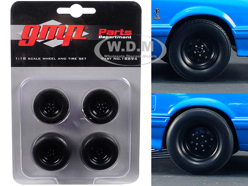 Wheels and Tires Set of 4 from 1993 Ford Mustang Cobra 1320 Drag Kings