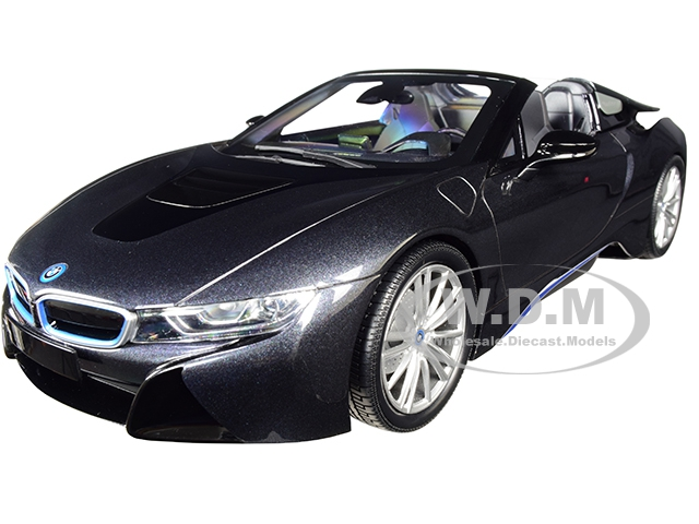 2018_BMW_i8_Roadster_Dark_Gray_Metallic_Limited_Edition_to_504_pieces_Worldwide_118_Diecast_Model_Car_by_Minichamps