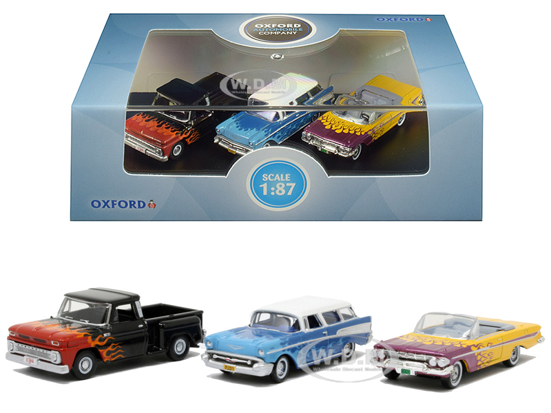 Chevrolet_Hot_Rods_Set_of_3_pieces_187_HO_Scale_Diecast_Model_Cars_by_Oxford_Diecast