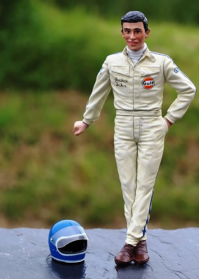 Jacky Ickx 1969 Figure With Helmet for