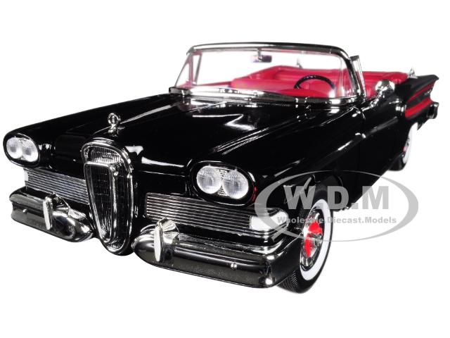 1958_Edsel_Citation_Convertible_Black_118_Diecast_Model_Car_by_Road_Signature