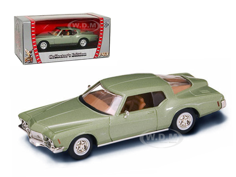 1971-buick-riviera-gs-green-143-diecast-car-model-by-road-signature