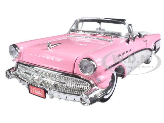 1957 Buick Roadmaster Pink 1|18 Diecast Model Car by Motormax