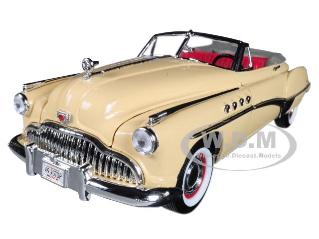 1949_Buick_Roadmaster_Cream_118_Diecast_Model_Car_by_Motormax