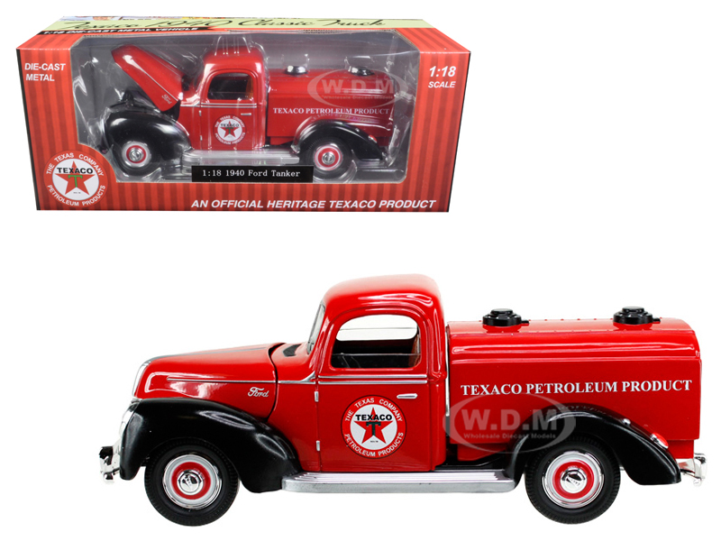 1940 Ford Tanker Texaco Red 1/18 Diecast Model Car By Beyond Infinity