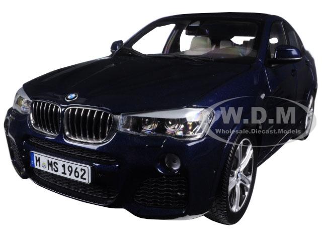 BMW X4 (F26) Imperial Blue 1/18 Diecast Model Car by Paragon (97092) photo