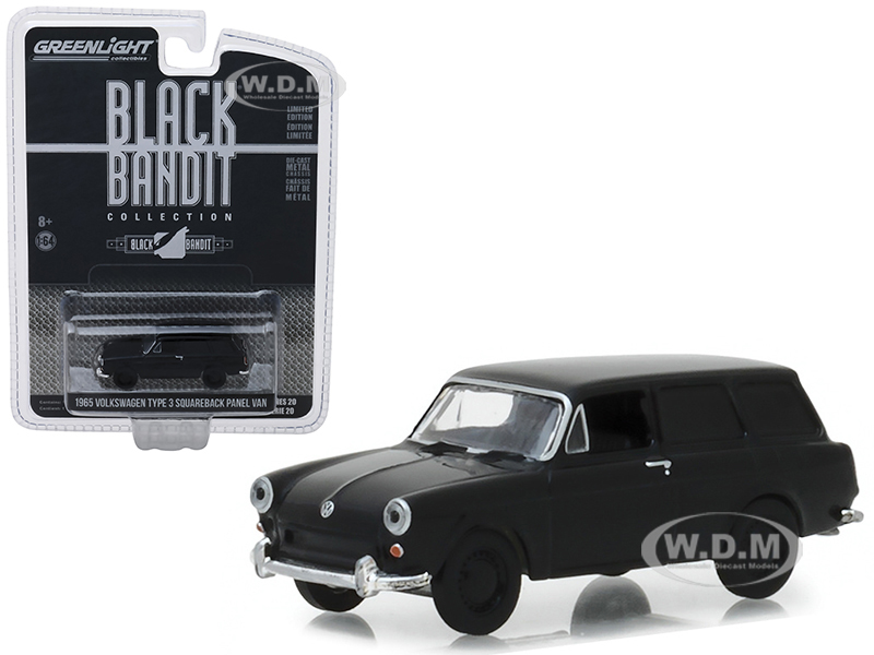 1965_Volkswagen_Type_3_Squareback_Panel_Van_Black_Bandit_Series_20_164_Diecast_Model_Car_by_Greenlight