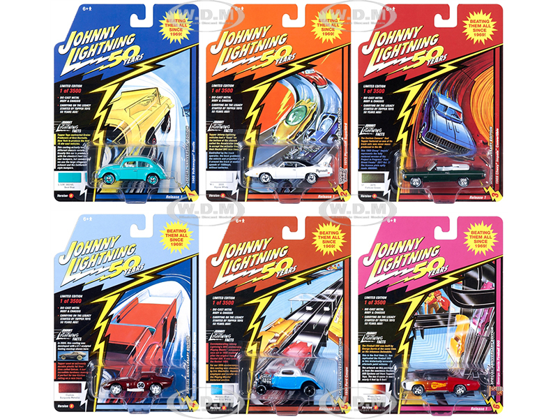 Classic_Gold_2019_Release_1_Set_B_of_6_Cars_Johnny_Lightning_50th_Anniversary_164_Diecast_Models_by_Johnny_Lightning