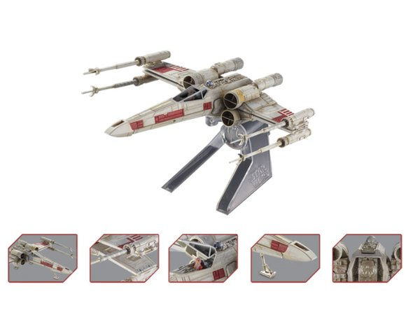 """Elite X-Wing Fighter Red Five """"""""Star Wars Episode IV A New Hope"""""""" Movie (1977) Diecast Model by Hotwheels"""" CMC91"""