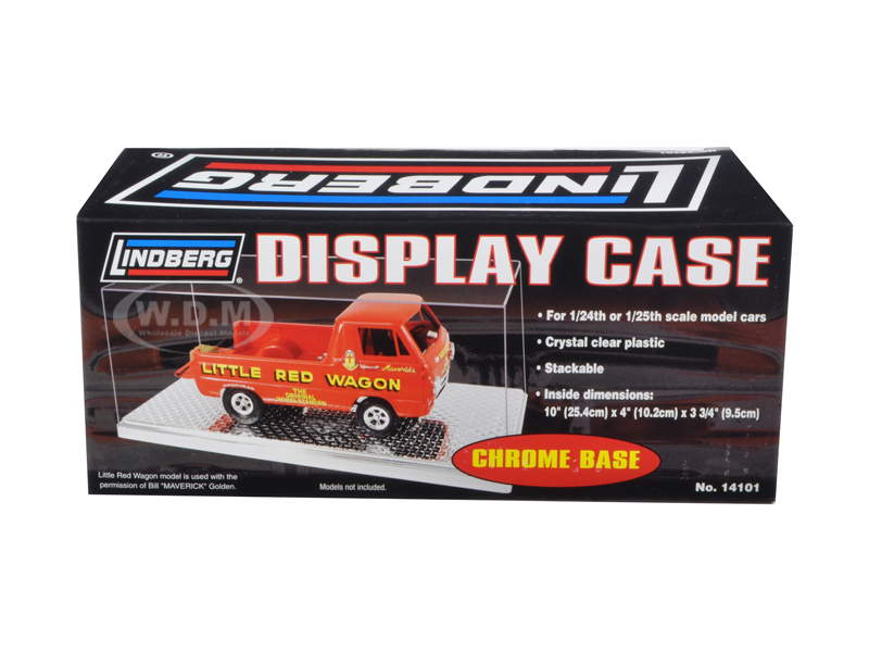 Display Show Case With Chrome Base For 1/24 1/25 Model Cars by Lindberg HL14101