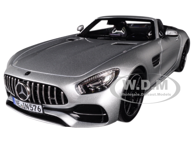 2017_Mercedes_AMG_GT_C_Roadster_Silver_Metallic_118_Diecast_Model_Car_by_Norev