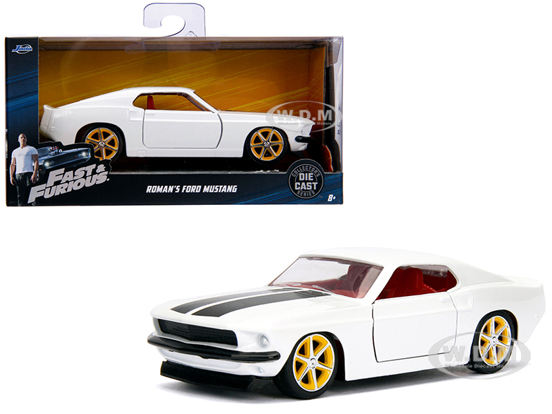 Romans_Ford_Mustang_White_with_Red_Interior_Fast_&amp_Furious_Movie_132_Diecast_Model_Car_by_Jada