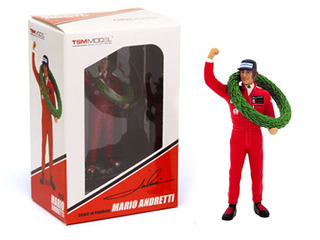 Mario Andretti Type II Figurine 1977 French GP Winner for 1/18 Scale Models by True Scale Miniatures