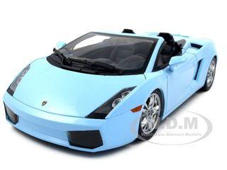 Lamborghini Gallardo Spyder Baby Blue 1/18 Diecast Car Model by Norev