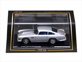 Aston Martin DB4 Silver Birch 1/43 Diecast Model Car by Vitesse
