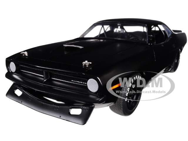 "1970 Plymouth Barracuda Trans Am Matt Black ""street Version"" Limited Edition To 522 Pieces Worldwide 1/18 Diecast Model Car By Acme"