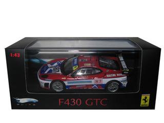 Ferrari F430 GTC 87 Red Elite Edition 1/43 Diecast Car Model by Hotwheels
