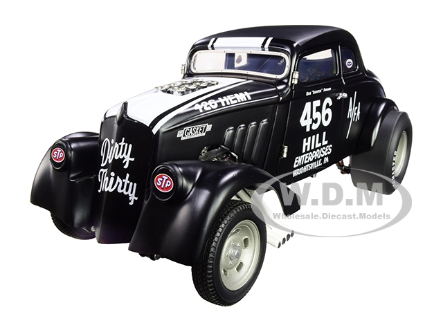 """1933 Gasser 456 Bob """"cheater"""" Parmer """"dirty Thirty"""" Matt Black With White Stripes Limited Edition To 420 Pieces Worldwide 1/18 Diecast Model Car By A"""