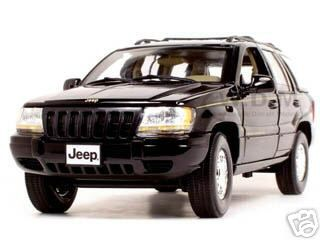 2001 Jeep Grand Cherokee Black 1/18 Diecast Model Car by Motormax