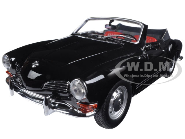 1970 Volkswagen Karmann Ghia Convertible Black Limited Edition to 1002pcs 1/18 Diecast Model Car by Minichamps
