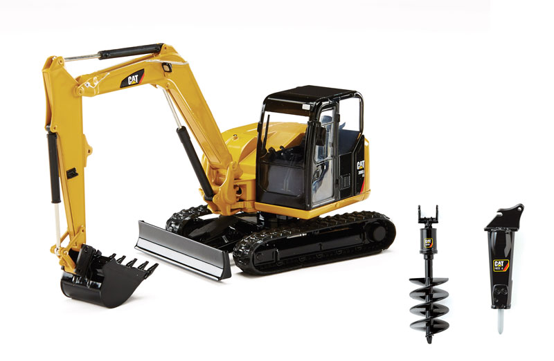 CAT Caterpillar 308E2 CR SB Mini Hydraulic Excavator with Working Tools 1/32 Diecast Model by Norscot