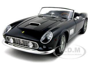 Ferrari 250 California Spider SWB Elite Edition Black 1/18 Diecast Car Model by Hotwheels