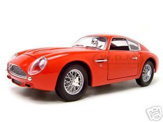 1961 Aston Martin DB4 GT Zagato Red 1/18 Diecast Model Car by Road Signature