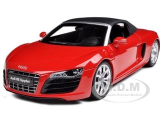 Audi R8 V10 5.2FSi Quattro Spyder Red 1/18 Diecast Model Car by Kyosho