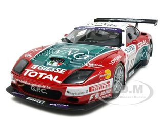 Ferrari 575 GTC Team Spa-Francochamps 2004 11 1/18 Diecast Car Model by Kyosho