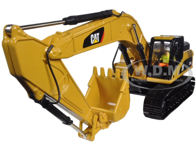 CAT Caterpillar 336D L Hydraulic Excavator with Operator 1/50 Diecast Model by Diecast Masters