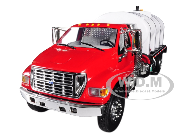 Ford F-650 with Roto Molded Water Tank Truck Red and White 1/34 Diecast Model by First Gear