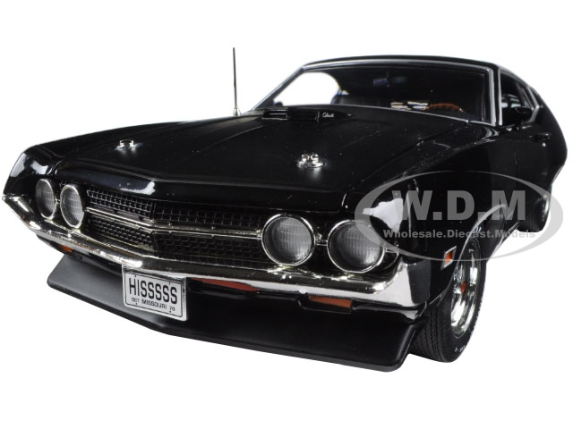 1970 Ford Torino Cobra Jet 429 Raven Black Limited Edition to 1002pcs 1/18 Diecast Model Car by Autoworld