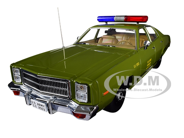 1977_Plymouth_Fury_US_Army_Police_Army_Green_The_ATeam_19831987_TV_Series_118_Diecast_Model_Car_by_Greenlight