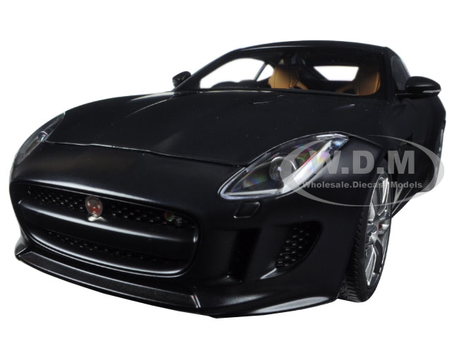 2015 Jaguar F-Type R Coupe Matt Black 1/18 Model Car by Autoart