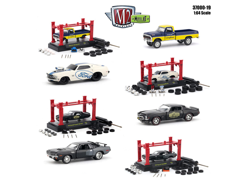 Model_Kit_4_pieces_Set_Release_19_164_Diecast_Model_Cars_by_M2_Machines