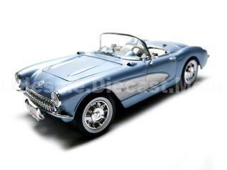 1957 Chevrolet Corvette Convertible Blue 1/18 Diecast Car Model by Road Signature