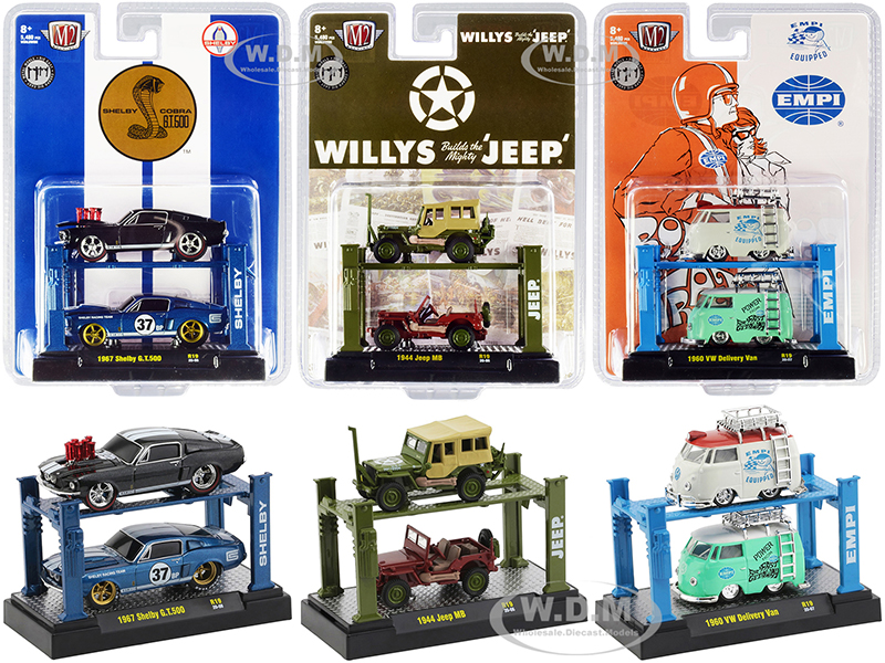 """""""Auto Lifts"""" Set of 6 pieces Series 19 Limited Edition to 5480 pieces Worldwide 1/64 Diecast Model Cars by M2 Machines"""