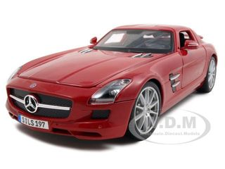 2011-mercedes-sls-amg-gullwing-red-118-diecast-model-car-by-maisto