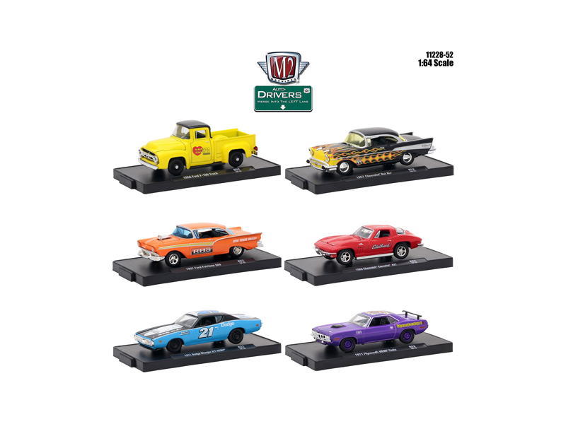 Drivers_6_Cars_Set_Release_52_in_Blister_Packs_164_Diecast_Model_Cars_by_M2_Machines