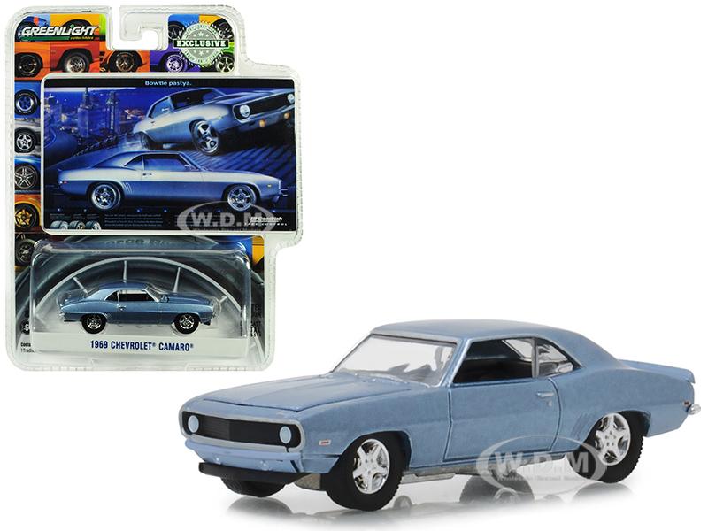 1969_Chevrolet_Camaro_Steel_Blue_Bowtie_Pastya_BFGoodrich_Vintage_Ad_Cars_Hobby_Exclusive_164_Diecast_Model_Car_by_Greenlight
