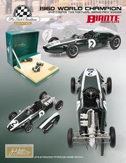 Cooper T53 Sir Jack Brabham 1960 Gp Portugal Winner 1 Of 2500 Produced 1/43 Diecast Car Model By Biante