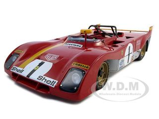 1972 Ferrari 312PB 1 Regazzoni/Ickx Monza 1/18 Diecast Car Model by GMP