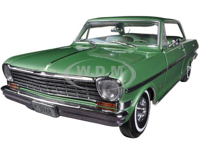 1963 Chevrolet Nova Hard Top Laurel Green 1/18 Diecast Car Model by Sunstar discount price 2016