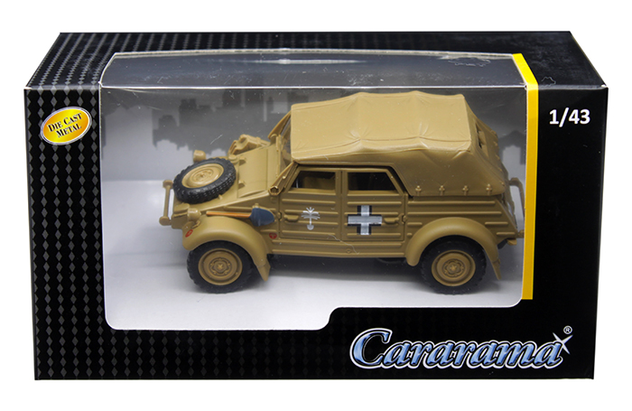 Volkswagen Kubelwagen Soft Top K Type 82 Tan 1/43 Diecast Model Car By Cararama