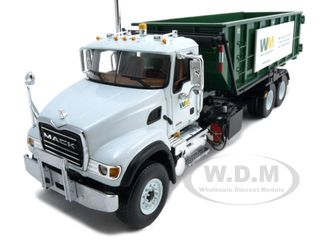 mack-granite-waste-management-roll-off-refuse-garbage-truck-134-for-adult-collectors-for-display-purpose-by-first-gear