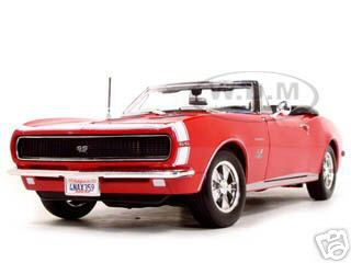 1967_Chevrolet_Camaro_SS_396_Convertible_Red_118_Diecast_Model_Car_by_Maisto