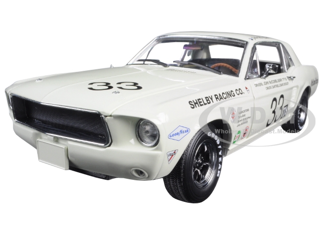 1967 Ford Shelby Mustang 33 Shelby Racing Co. Jerry Titus & John McComb Racing Tribute Edition 1/18 Diecast Model Car by Greenlight