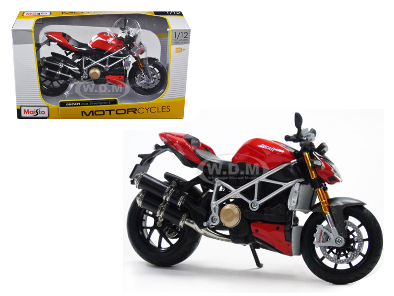 Ducati Mod Streetfighter S 1/12 Motorcycle Model by Maisto